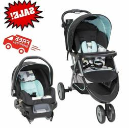 3 in 1 Baby Strollers EZ Ride 35 Travel System, Doddle Dots