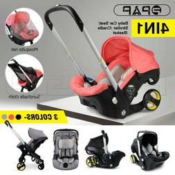4 in 1 Baby Infant Car Seat Stroller Combos Newborn Light We