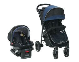 Graco Aire4 XT Travel System Stroller Knox Blue Stroller & S
