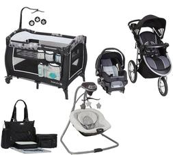 Baby Boy or Girl Combo Jogger Stroller with Car Seat Swing B