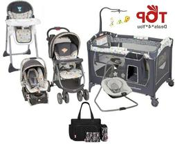 Baby Combo Playard Swing High Chair Bag Set Stroller with Ca