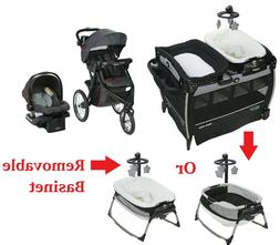 Baby Jogger Travel System Stroller with Car Seat Napper Play