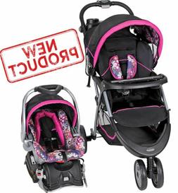 Baby Stroller + Car Seat Combo Girl Toddler Travel System In