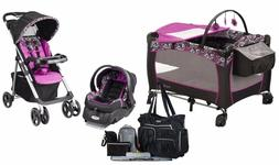 Baby Girl Stroller with Car Seat Travel System Diaper Bag Pl
