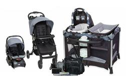 Baby Stroller Travel System with Car Seat Combo Diaper Bag I