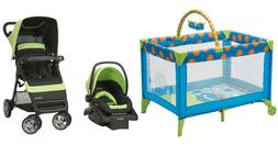 Baby Stroller with Car Seat Deluxe Infant Playard Combo Set