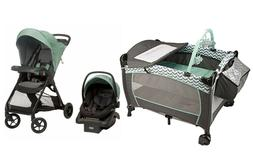 Evenflo Baby Stroller with Car Seat Nursery Playard Crib Tra
