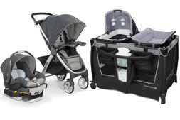 Chicco Bravo Trio Travel System Baby Stroller with Car Seat
