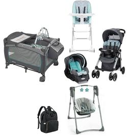 Evenflo Combo Set Baby Travel System Stroller with Car Seat