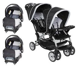 Compatible Travel System Two Car Seats with Baby Double Stro