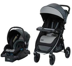Monbebe Dash All in One Travel System, Gray and Black Pinstr