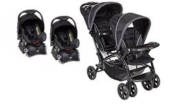 Baby Trend Sit N Stand with  Car Seats Double Stroller Combo