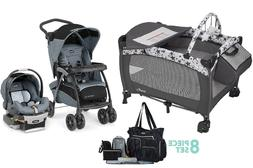 Elite Chicco Combo Stroller with Car Seat Nursery Crib Diape