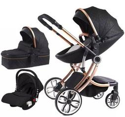 Infant Car seat baby stroller newborn 3 in 1 combo, Bassinet