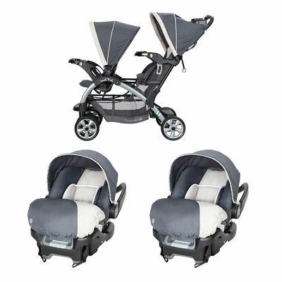 5 point harness double stroller and 35