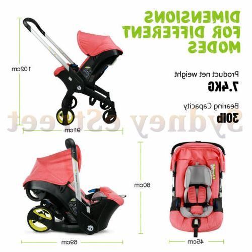 Baby Infant Stroller 4 in 1 for newborn weight US