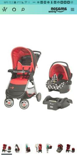 Disney Baby Minnie Mouse Lift Stroll Plus Travel System - Bl
