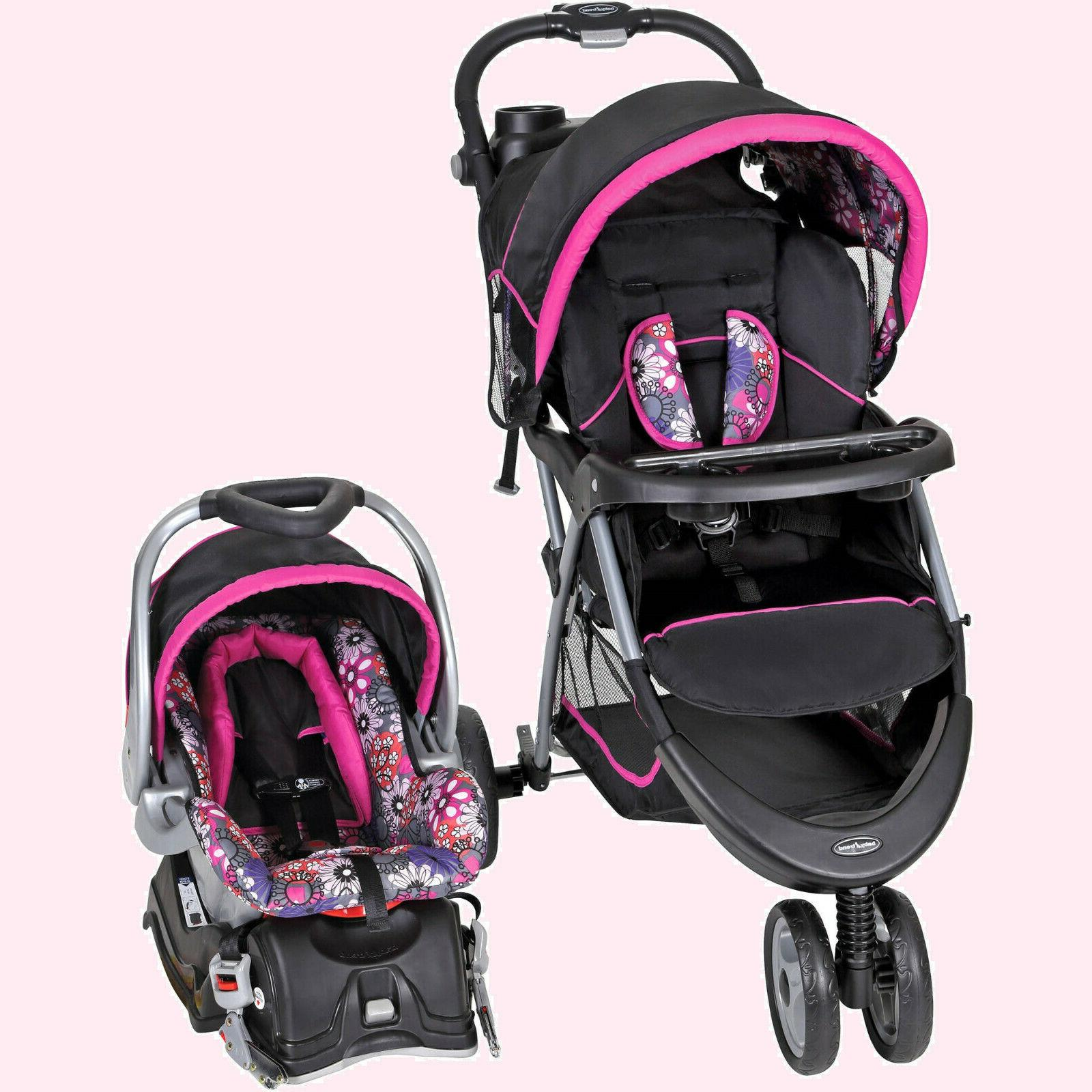 BABY STROLLER + CAR SEAT Combo Walking Girl Toddler Travel S