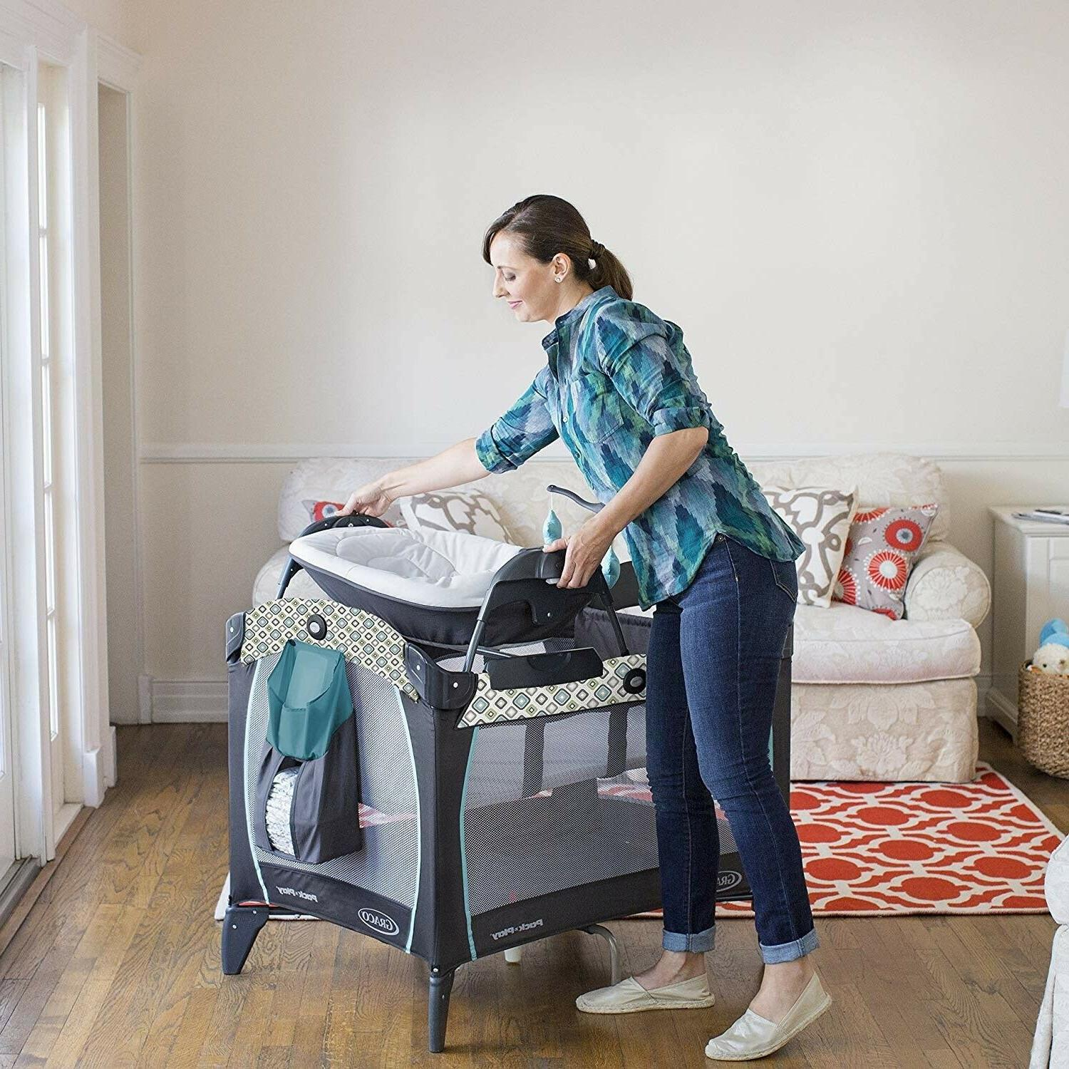 Baby Combo Stroller with Infant Crib Diaper Bag