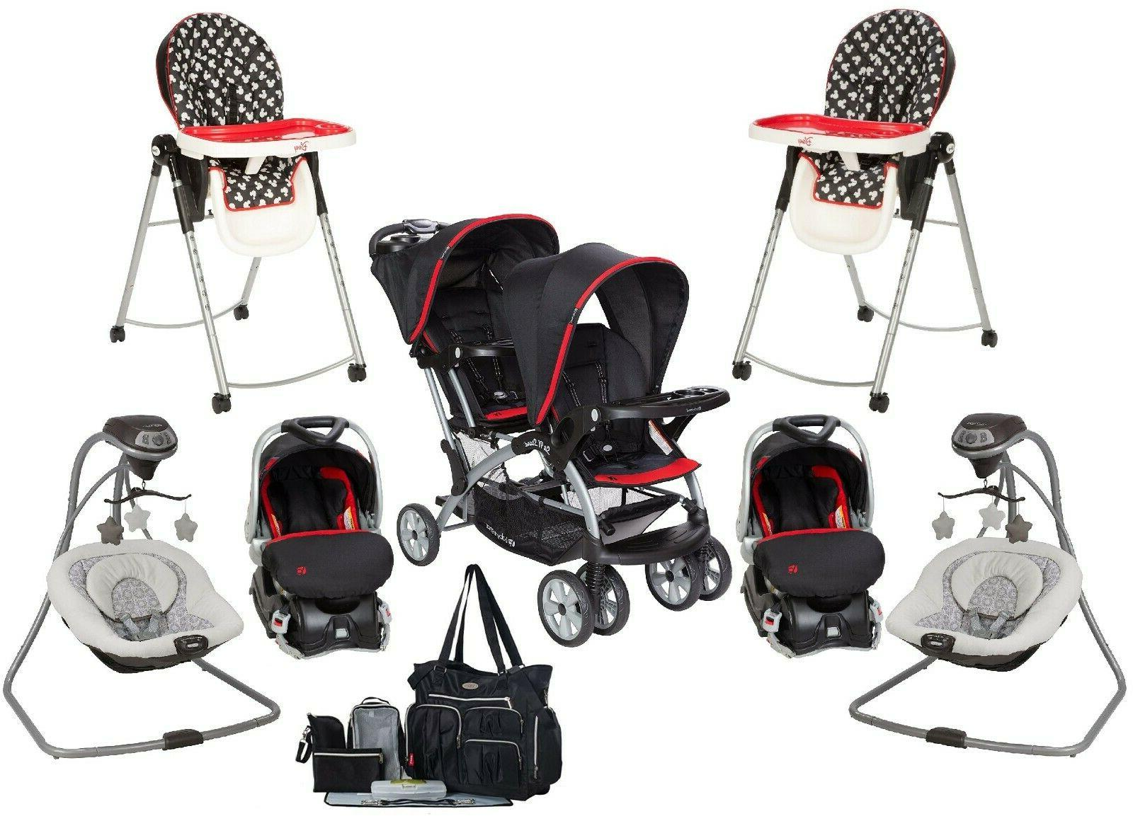 baby twins combo double jogger stroller