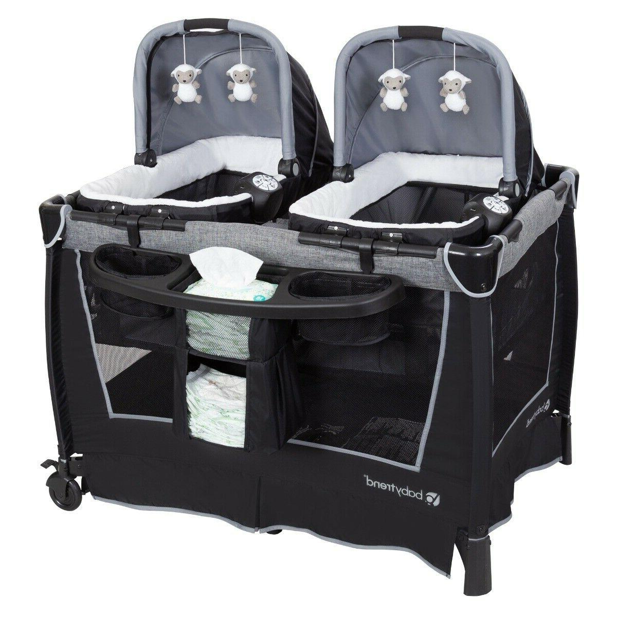 Baby Twins Double Stroller Nursery Center Seat Bag