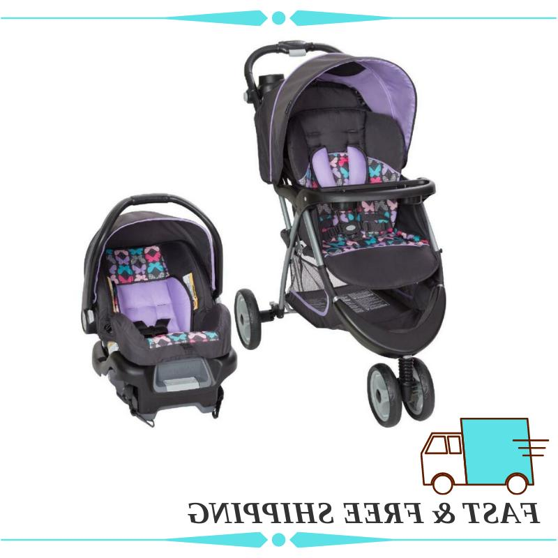 car seat and wheel stroller combo set