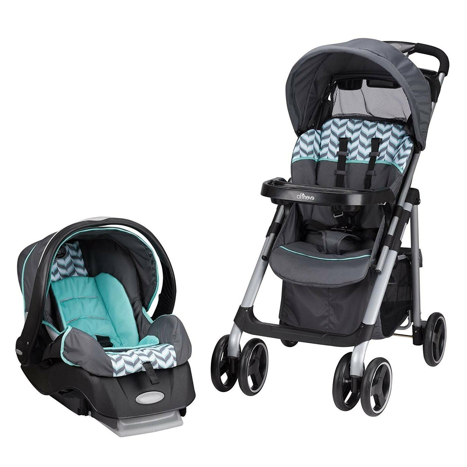 Evenflo Combo Set Travel Stroller with Car Swing Playard Chair