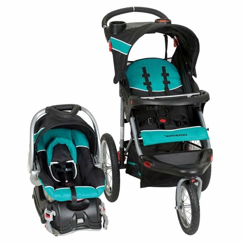INFANT BABY JOGGING STROLLER CAR SEAT COMBO JOGGER TRAVEL SY