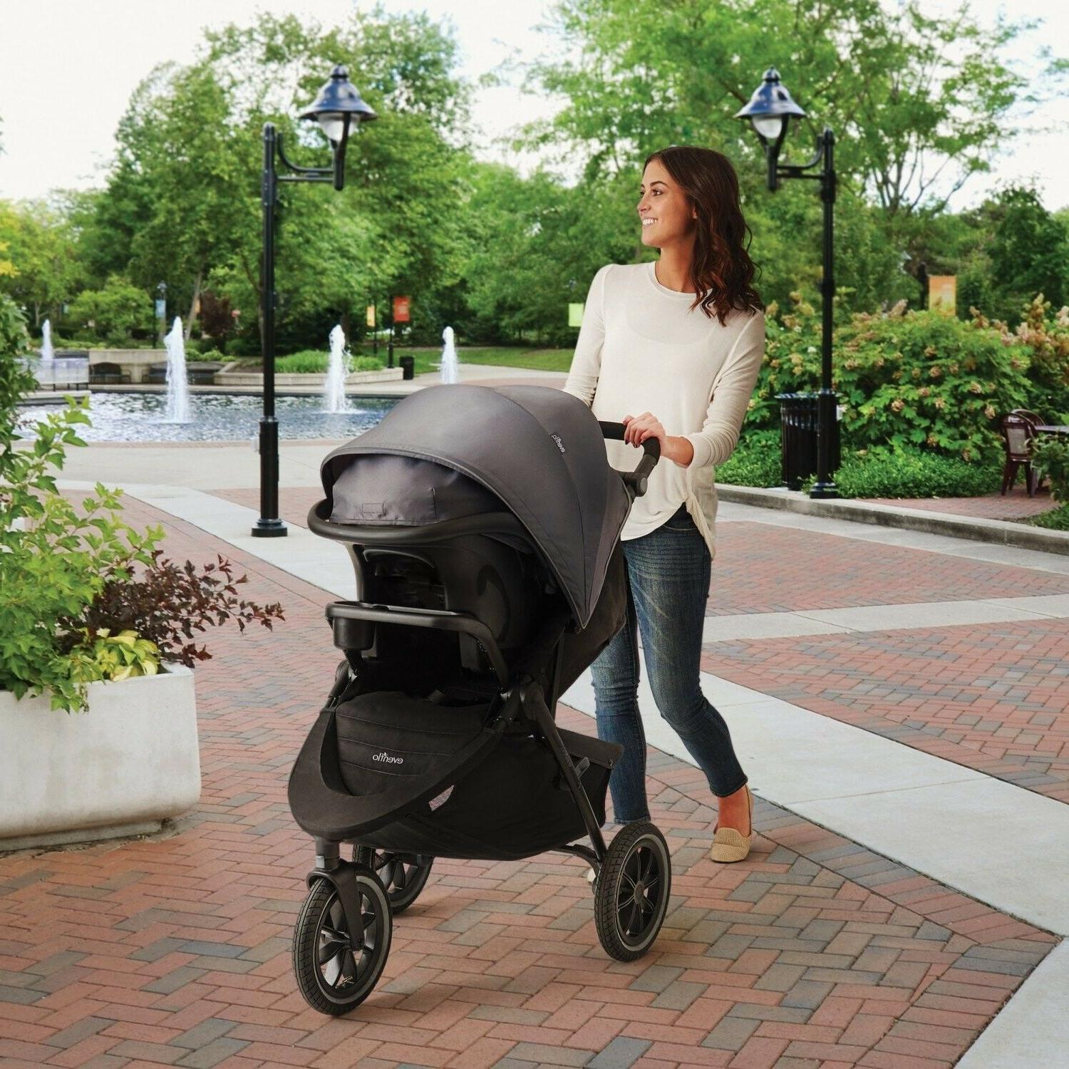 Evenflo Jogger with Car Seat Baby Playard Set