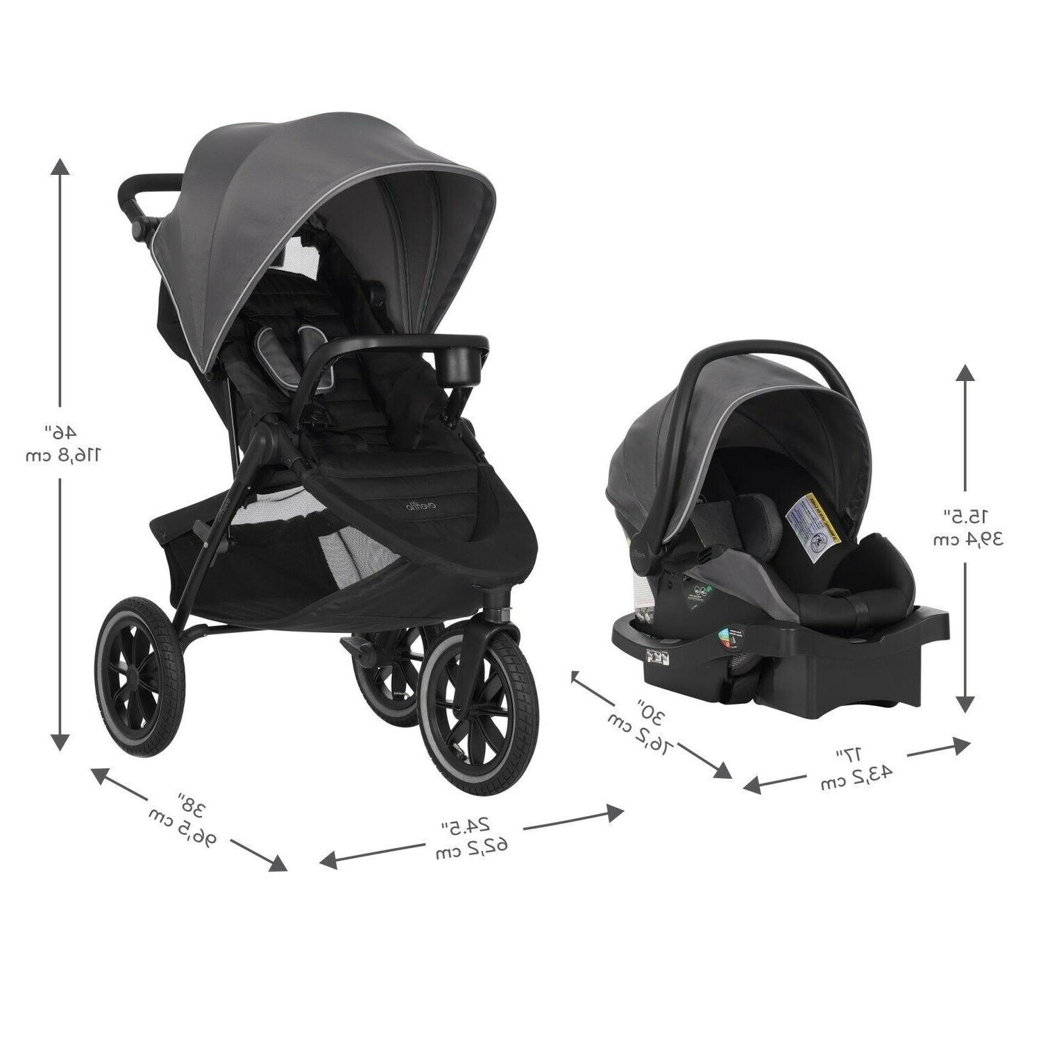 Evenflo Jogger Stroller Car Seat Swing Playard Diaper Combo Set