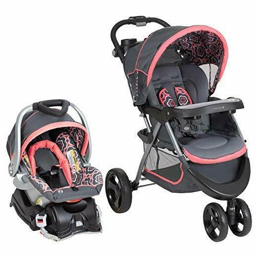 Baby Trend Nexton Travel System, Coral Floral Car seat Strol