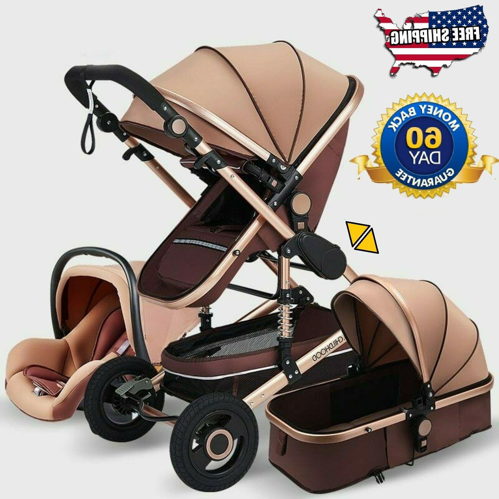 premium 3 in 1 baby carriage stroller