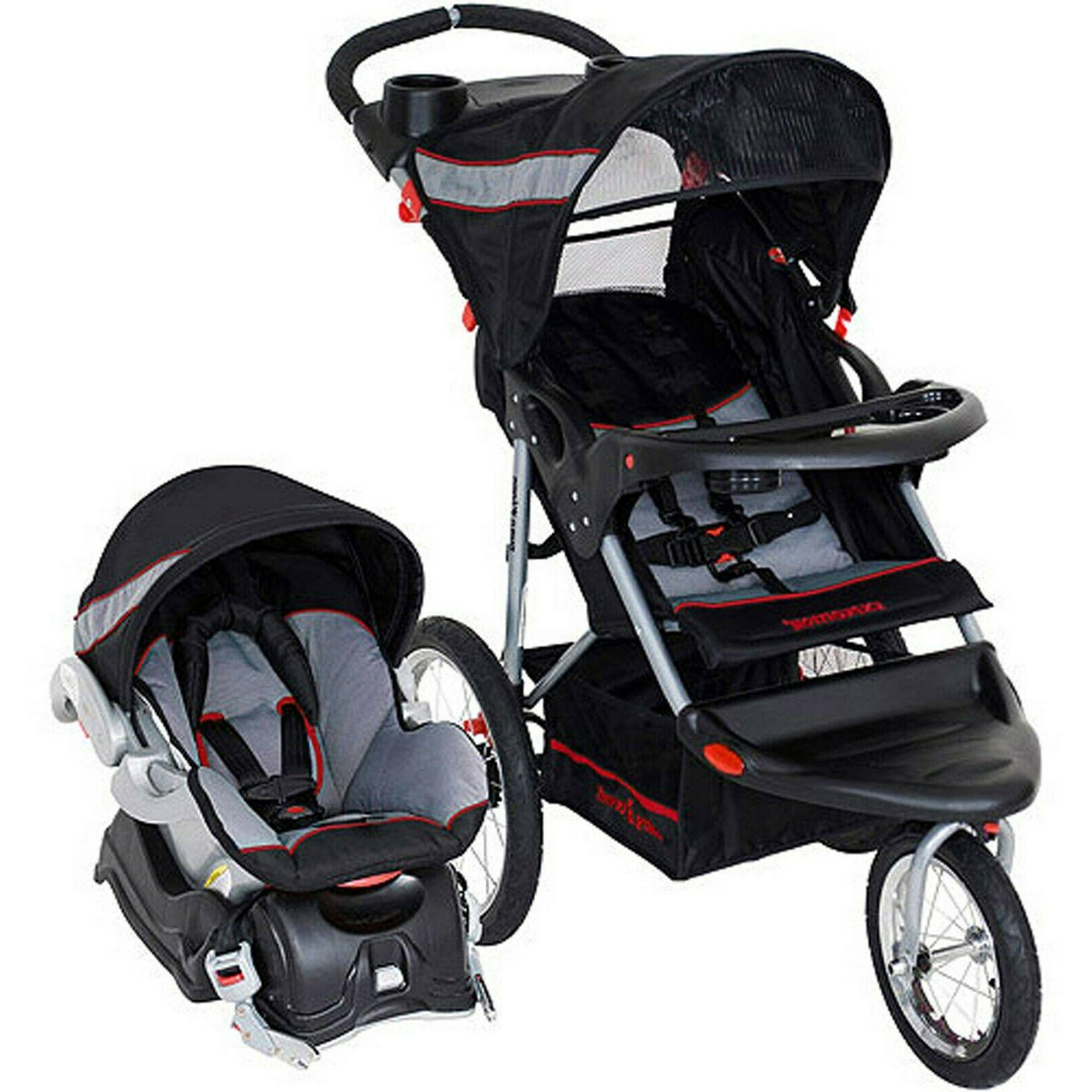 Baby Trend Expedition Jogger Travel System with Baby Car Sea