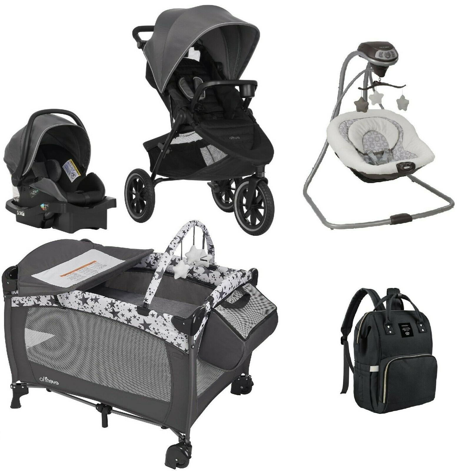 Evenflo Jogger Stroller with Car Seat Baby Swing Playard Dia