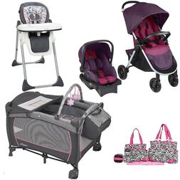 Evenflo Playard Stroller Car Seat High Chair Diaper Bag Trav