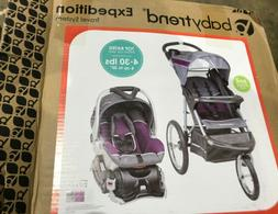Baby Trend Purple Combo Jogger Travel System Infant Stroller