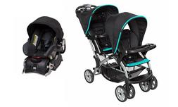 Baby Trend Double Stroller  with 1 Infant Car Seat Sit n Sta