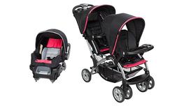 Baby Trend Sit n Stand Double Stroller with One Infant Car S