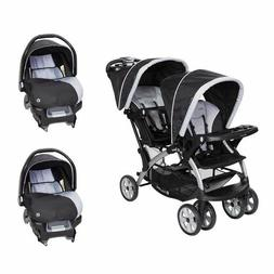 Baby Trend Sit N Stand Double Stroller Two Flex Loc Car Seat