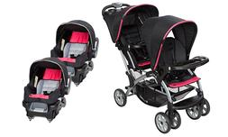 Baby Trend Sit n Stand Double Stroller Two Infant Car Seat C