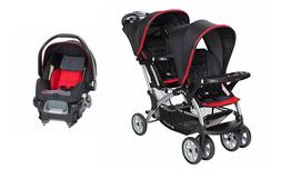Baby Trend Sit n Stand Double Stroller with One Car Seat Com