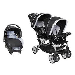 Baby Trend Sit N Stand Travel Double Baby Stroller and Car S