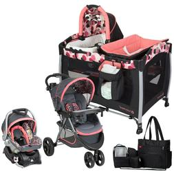Baby Trend Stroller with Car Seat Playard Crib Travel System