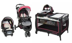 Baby Girl Stroller with Car Seat Combo Playard Nursery Trave