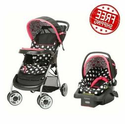 Travel System for Girls Lightweight Infant Car Seat Set Newb