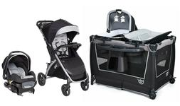 Baby Trend Travel System with Car Seat Combo Playard Bassine